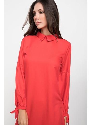 DeFacto Kol Ucu Bağlamalı Tunik Kırmızı